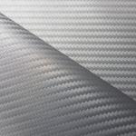 Karbonová fólie - stříbrná